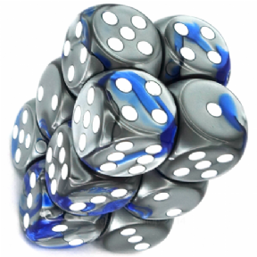 Blue & Steel Gemini 16mm D6 Dice Block